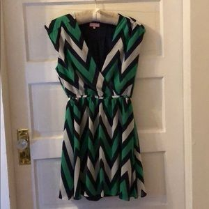 Best Society Chevron Dress Medium